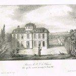 Maison du père La Chaise (lithographie)